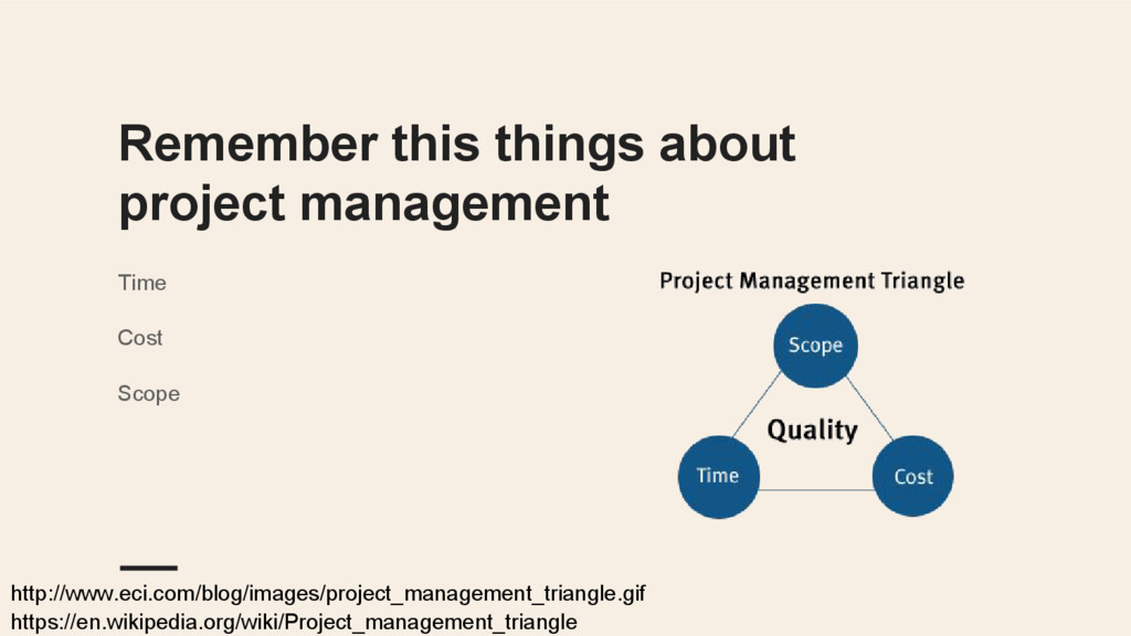 Remember this things about project management T...