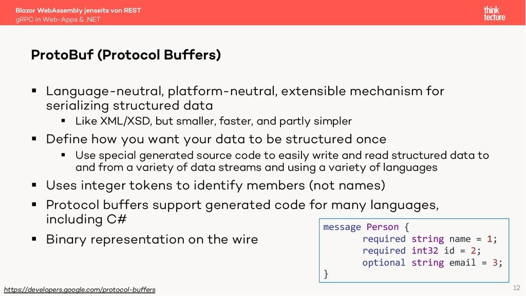12 Blazor WebAssembly jenseits von REST gRPC in...