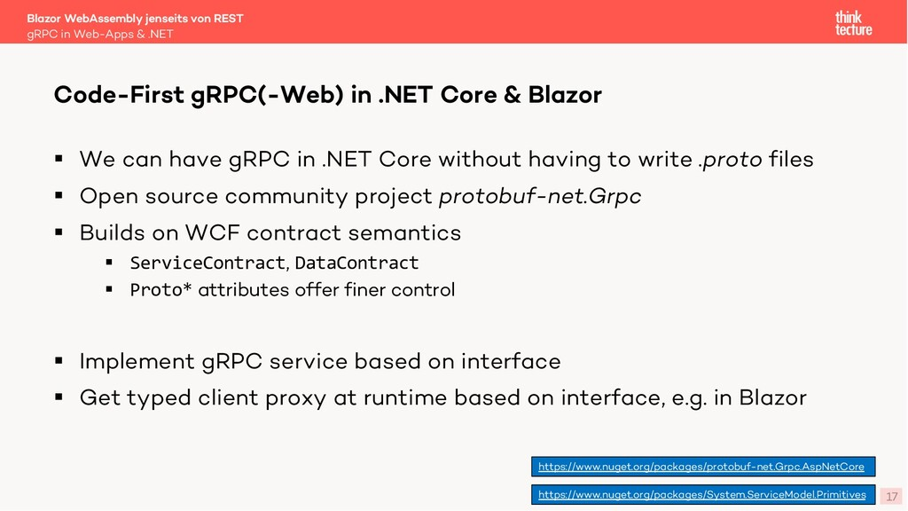 17 § We can have gRPC in .NET Core without havi...
