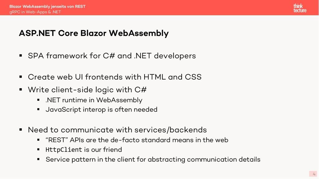 4 § SPA framework for C# and .NET developers § ...