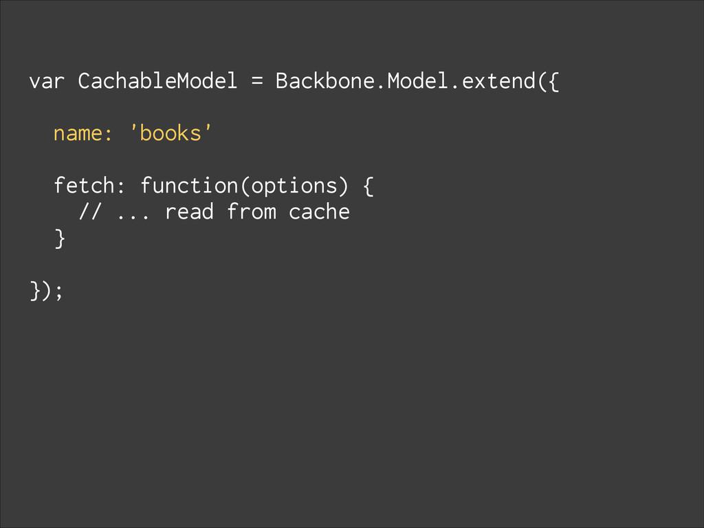 var CachableModel = Backbone.Model.extend({ ! n...