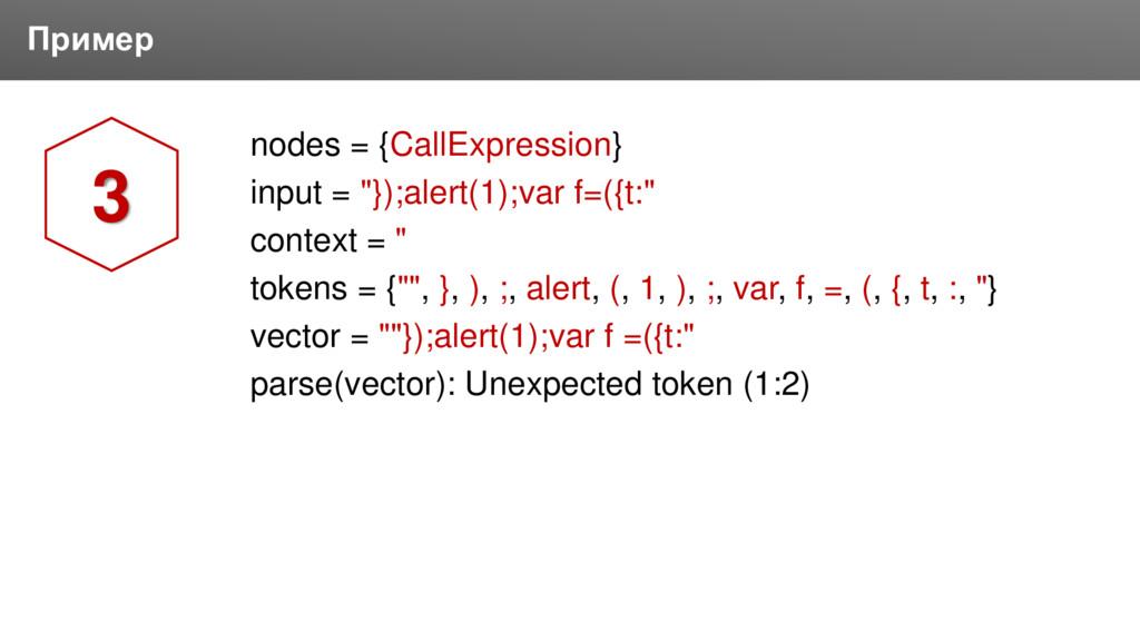 Заголовок Пример nodes = {CallExpression} input...