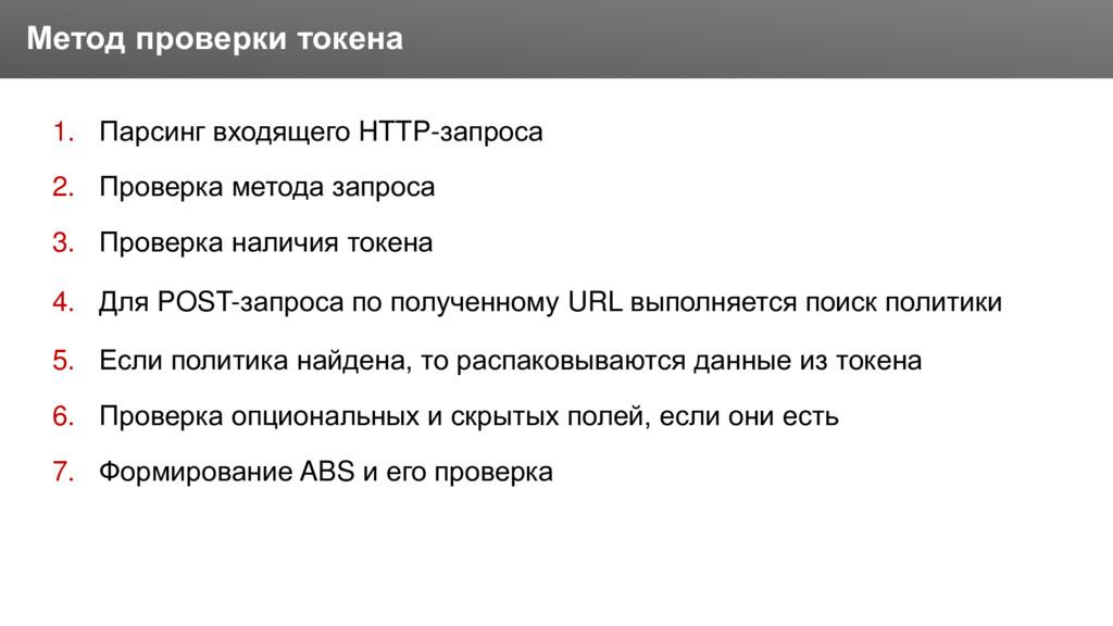 Заголовок 1. Парсинг входящего HTTP-запроса 2. ...