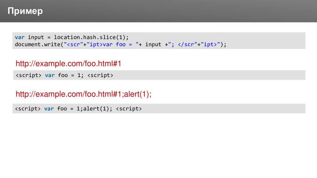 Заголовок Пример http://example.com/foo.html#1 ...