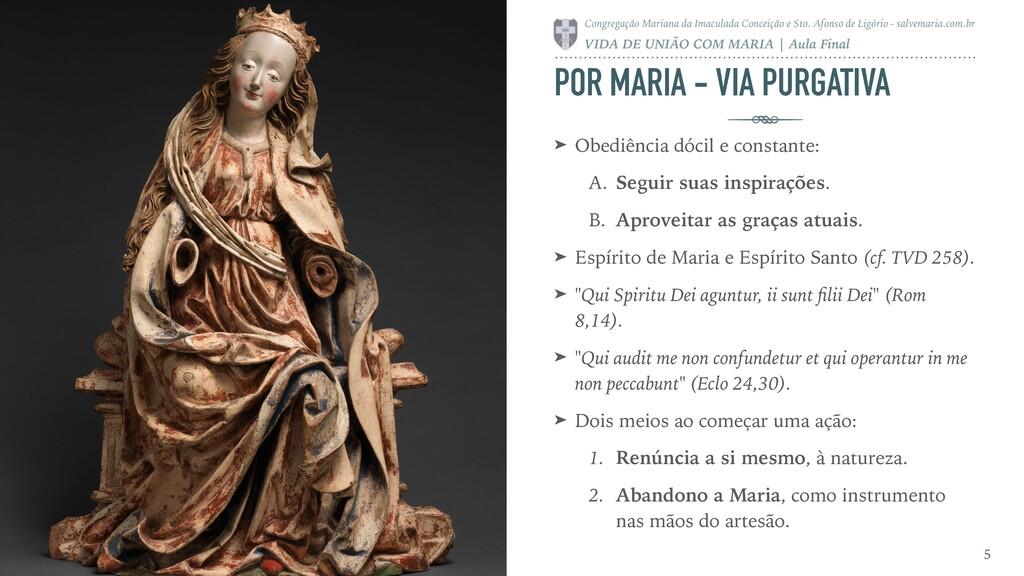 POR MARIA - VIA PURGATIVA ➤ Obediência dócil e ...