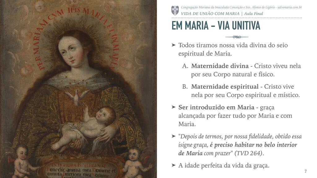 EM MARIA - VIA UNITIVA ➤ Todos tiramos nossa vi...