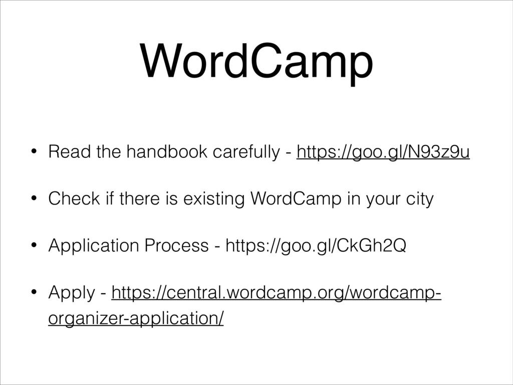 • Read the handbook carefully - https://goo.gl/...