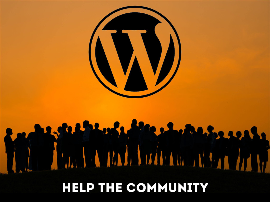 Help the community