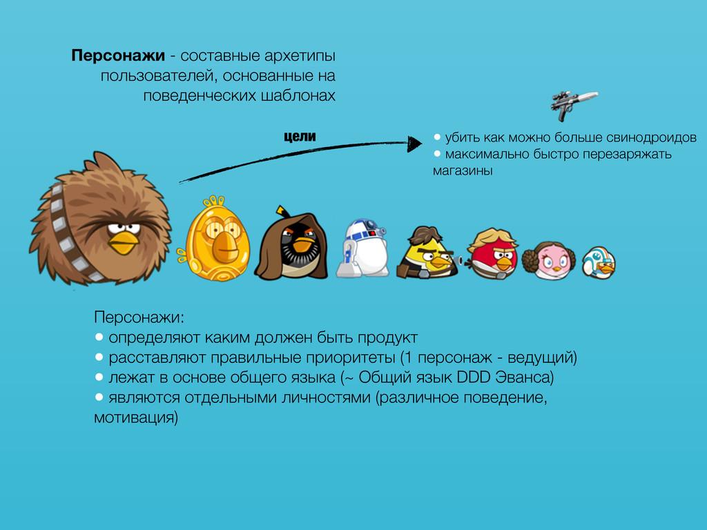 Персонажи - составные архетипы пользователей, о...