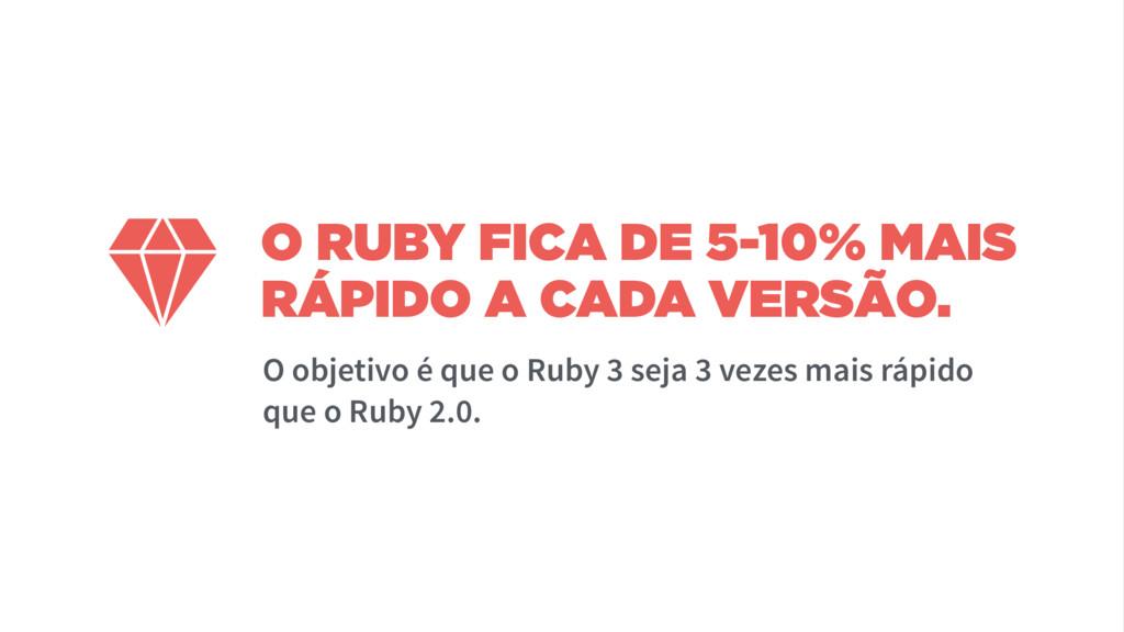 O RUBY FICA DE 5-10% MAIS RÁPIDO A CADA VERSÃO....