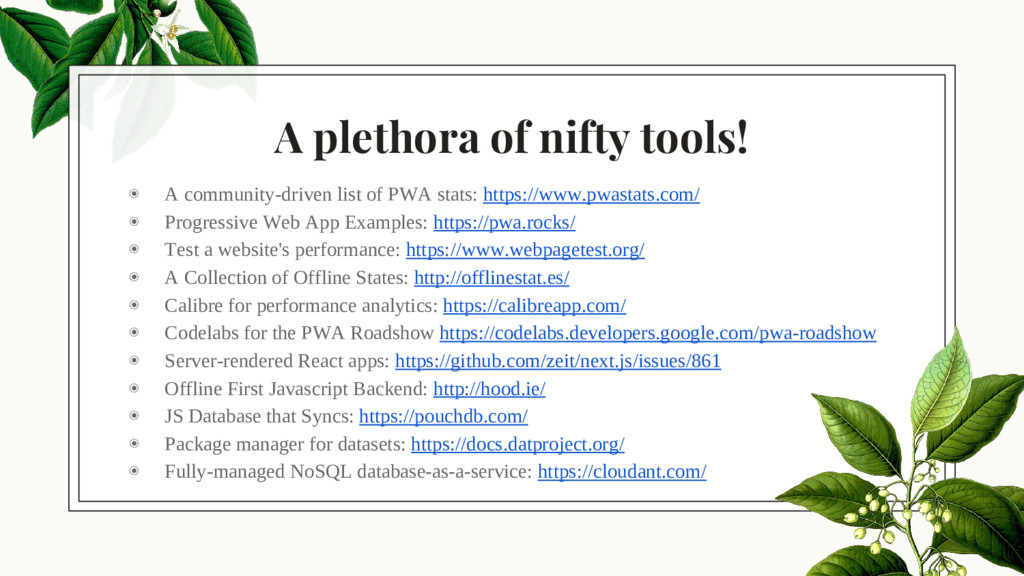 A plethora of nifty tools! ◉ A community-driven...