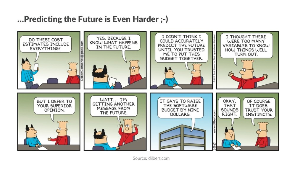 …Predicting the Future is Even Harder ;-) Sourc...