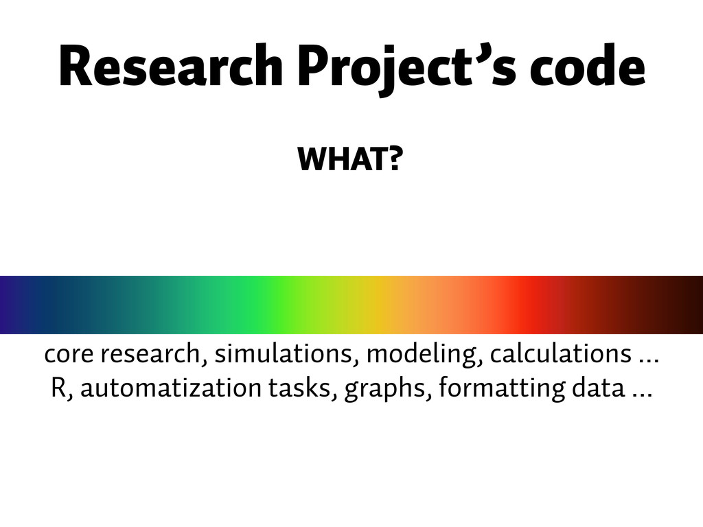 core research, simulations, modeling, calculati...