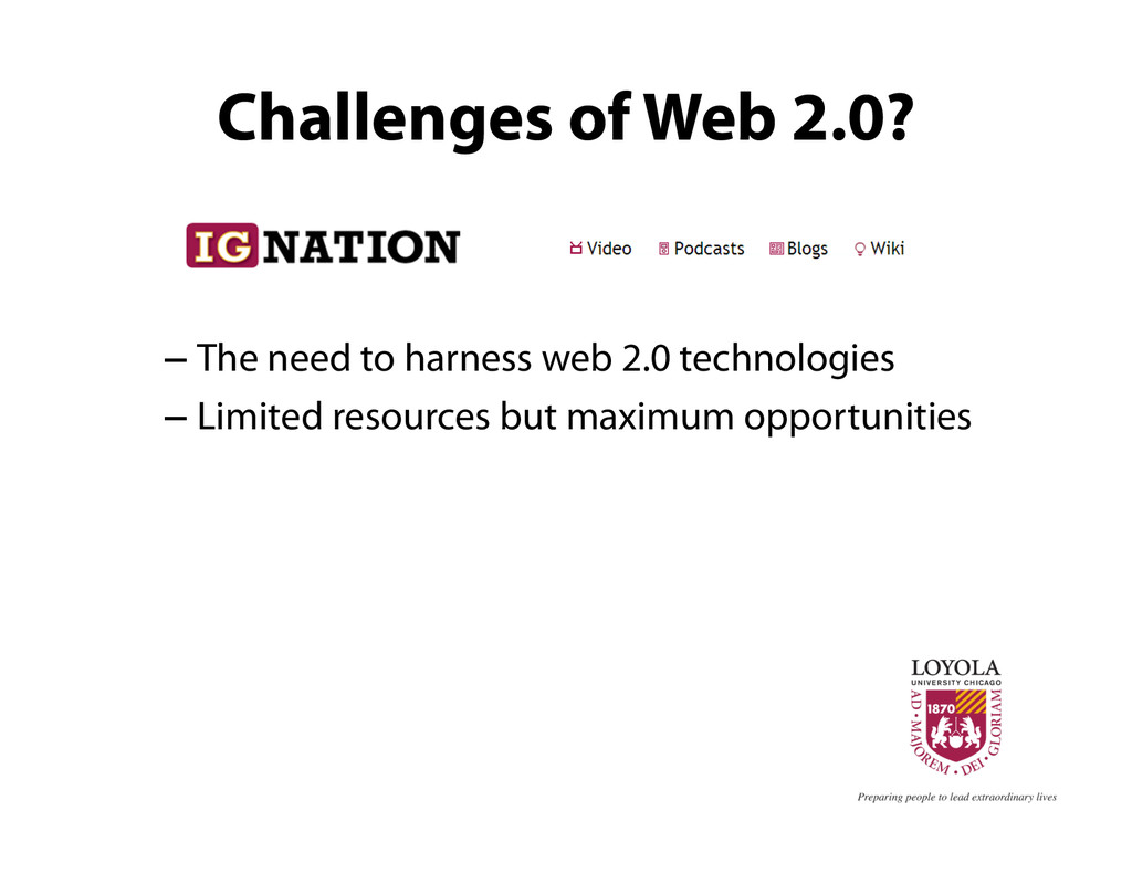 Challenges of Web 2.0? – The need to harness we...