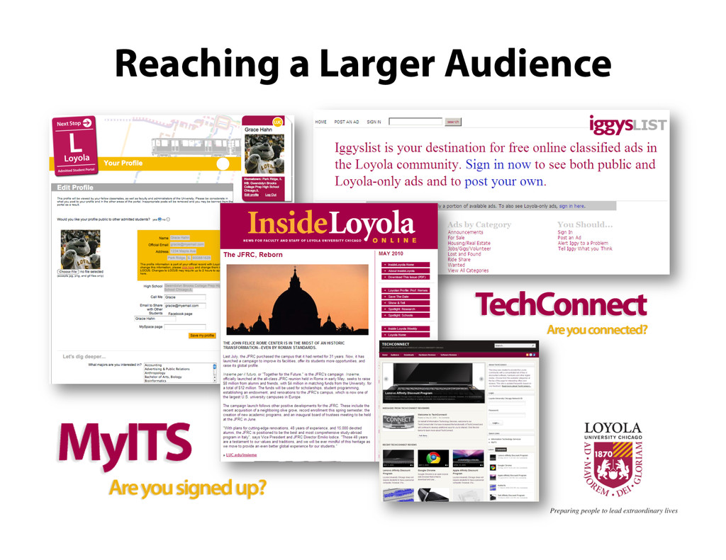 Reaching a Larger Audience