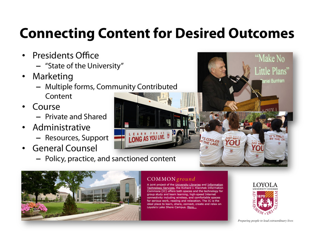 Connecting Content for Desired Outcomes •  Pres...