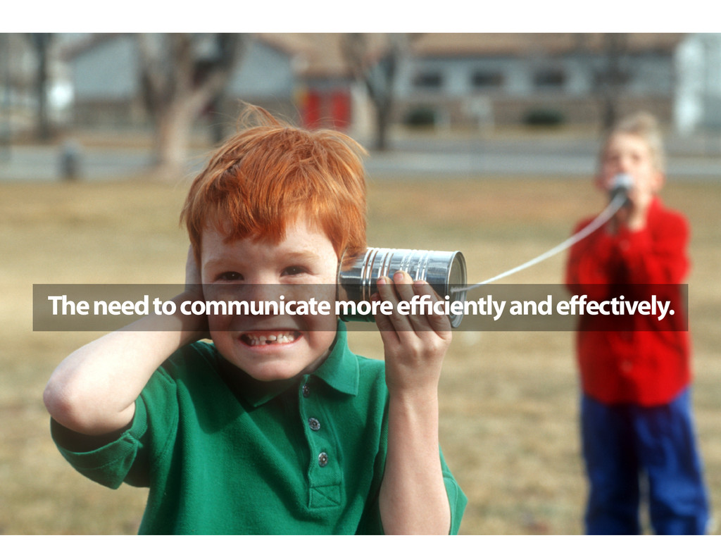 The need to communicate more efficiently and effec...