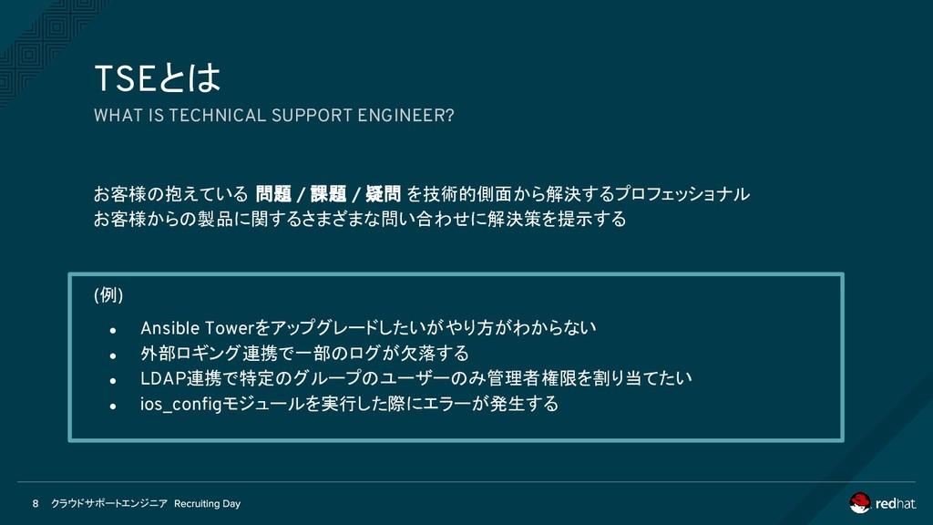 クラウドサポートエンジニア お客様の抱えている 問題 / 課題 / 疑問 を技術的側面から解決...