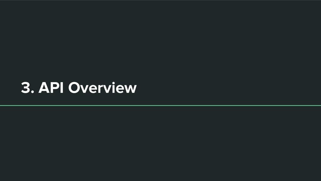 3. API Overview