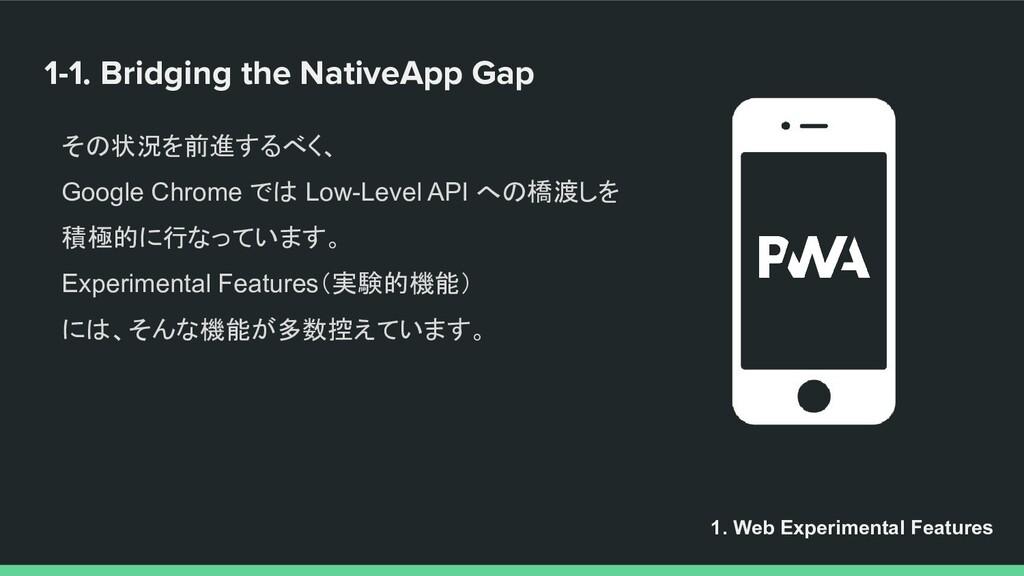 1-1. Bridging the NativeApp Gap 1. Web Experime...