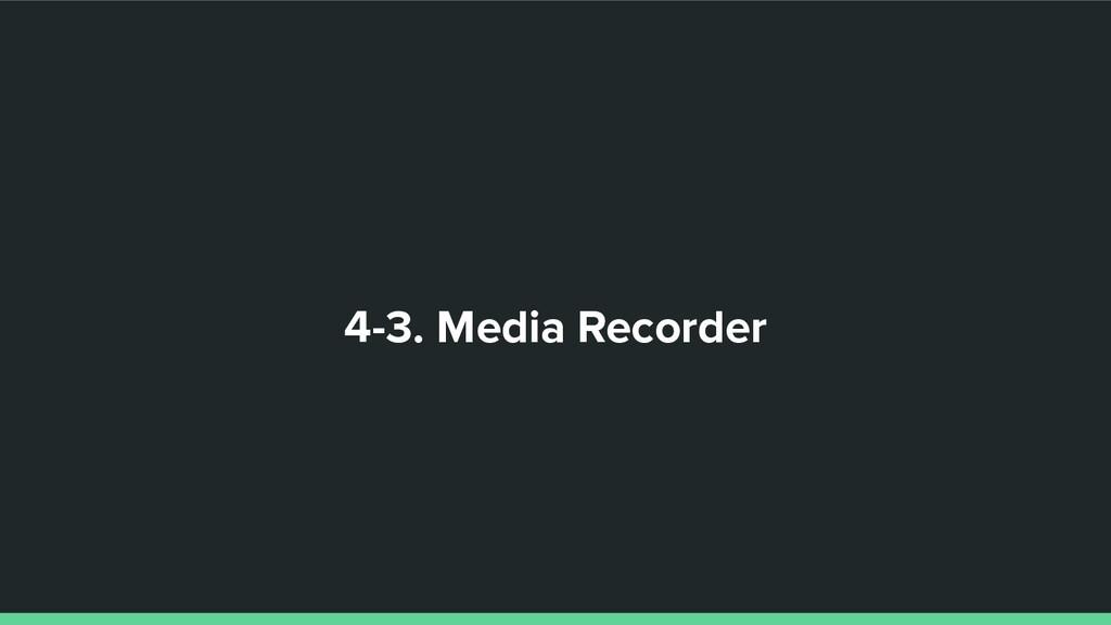 4-3. Media Recorder