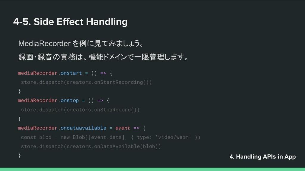 4-5. Side Effect Handling MediaRecorder を例に見てみまし...