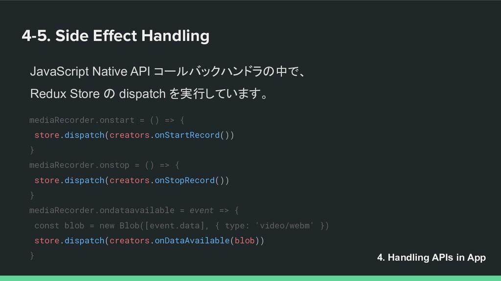 4-5. Side Effect Handling 4. Handling APIs in Ap...