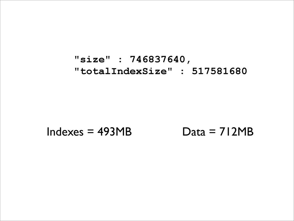 """size"" : 746837640, ""totalIndexSize"" : 51758168..."