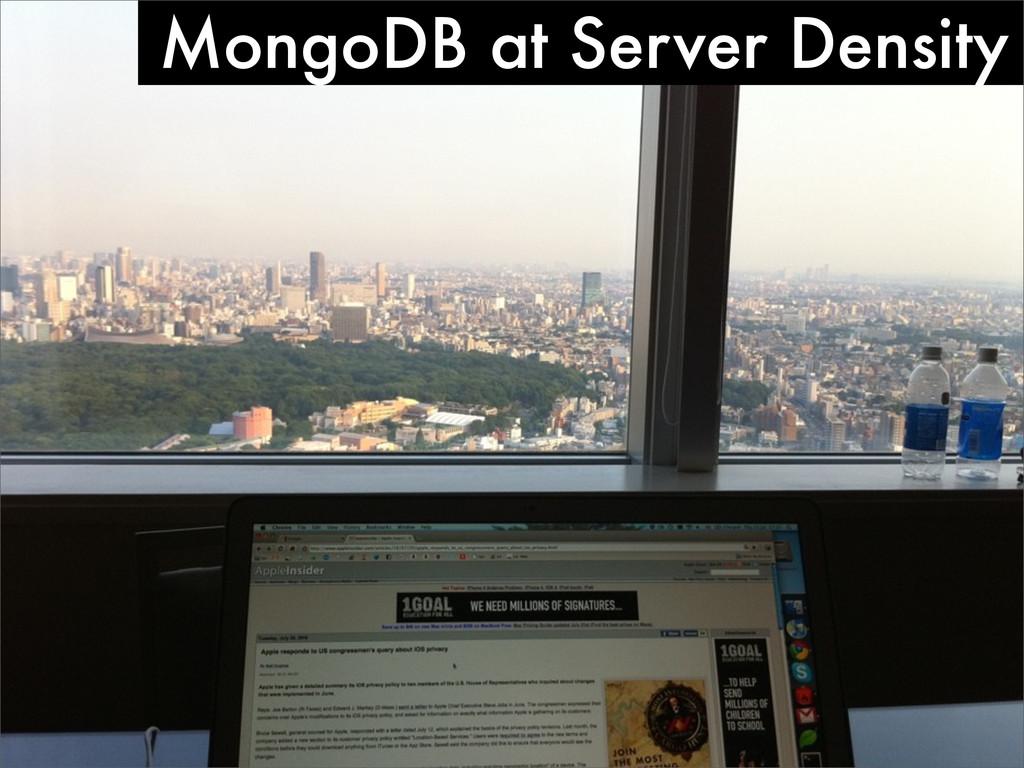 MongoDB at Server Density