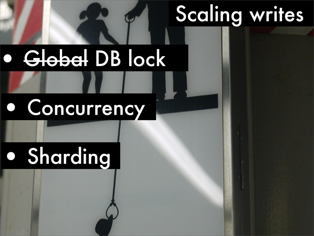 • Sharding • Concurrency Scaling writes • Globa...