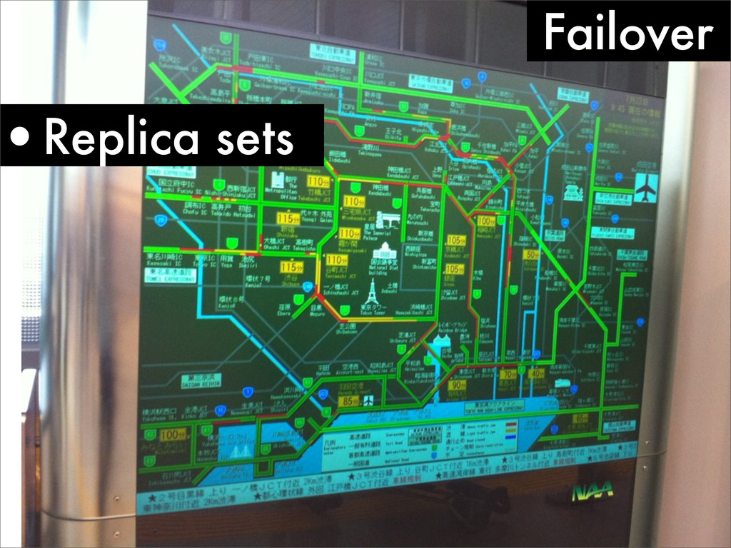 Failover •Replica sets