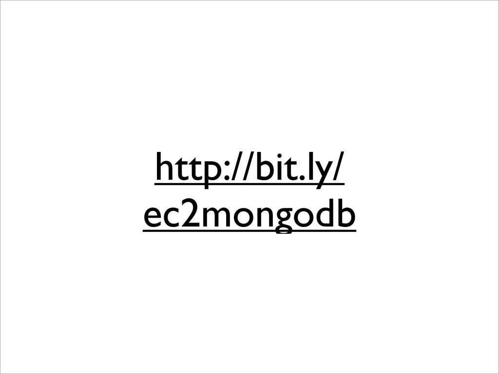 http://bit.ly/ ec2mongodb