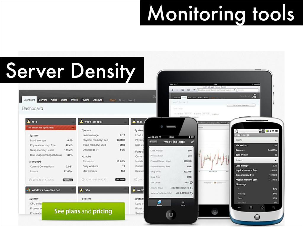 Monitoring tools Server Density