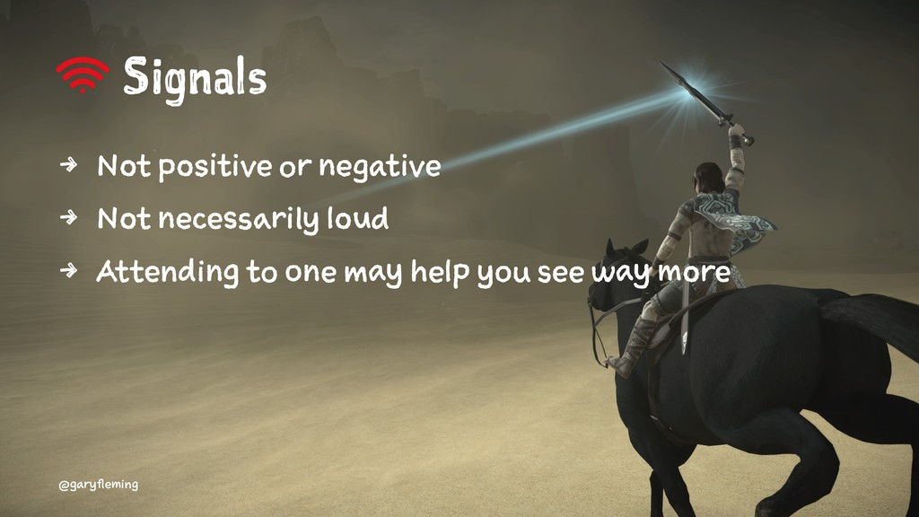 Signals 4 Not positive or negative 4 Not necess...