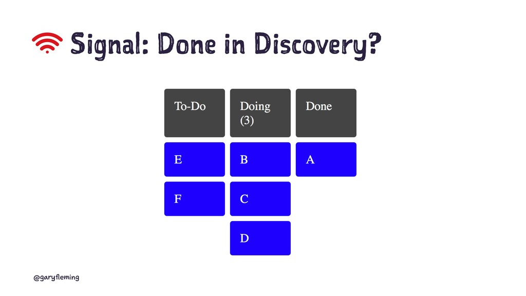 Signal: Done in Discovery? @garyfleming