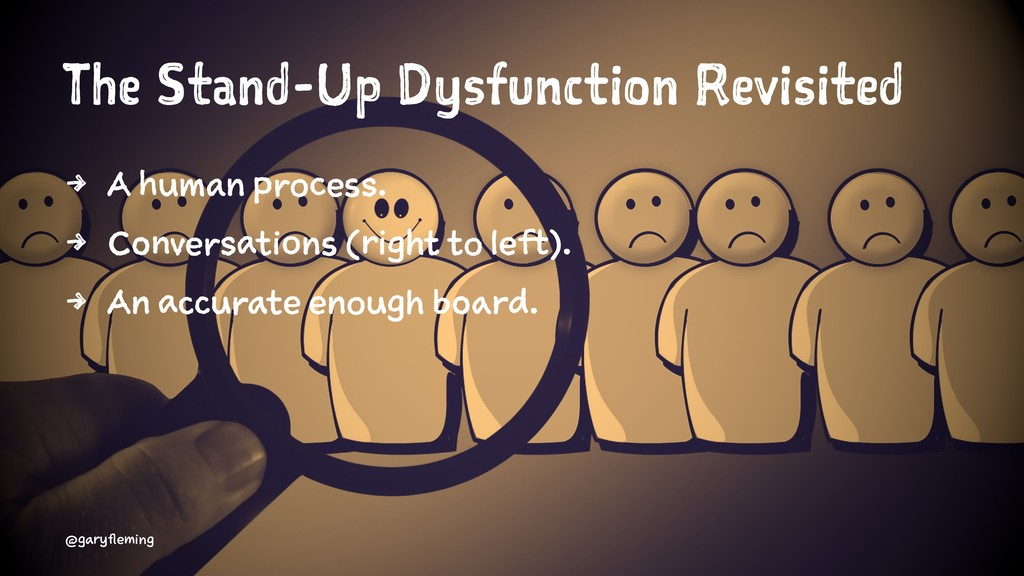 The Stand-Up Dysfunction Revisited 4 A human pr...
