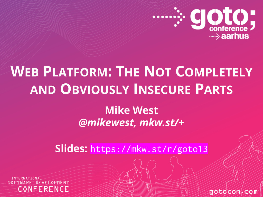 WEB PLATFORM: THE NOT COMPLETELY AND OBVIOUSLY ...