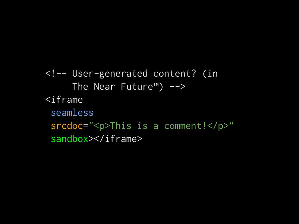 <!-- User-generated content? (in The Near Futur...