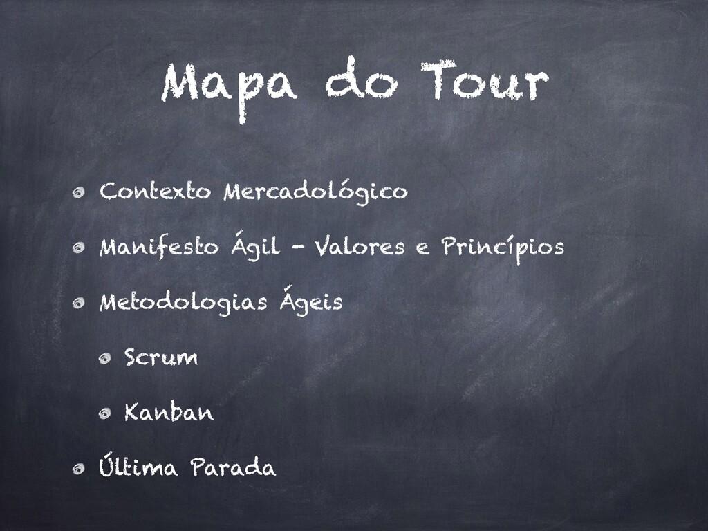 Mapa do Tour Contexto Mercadológico Manifesto Á...