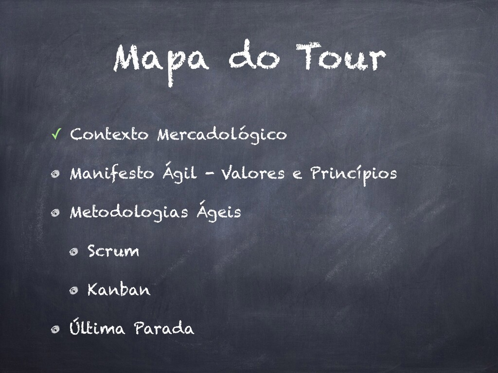 Mapa do Tour ✓ Contexto Mercadológico Manifesto...