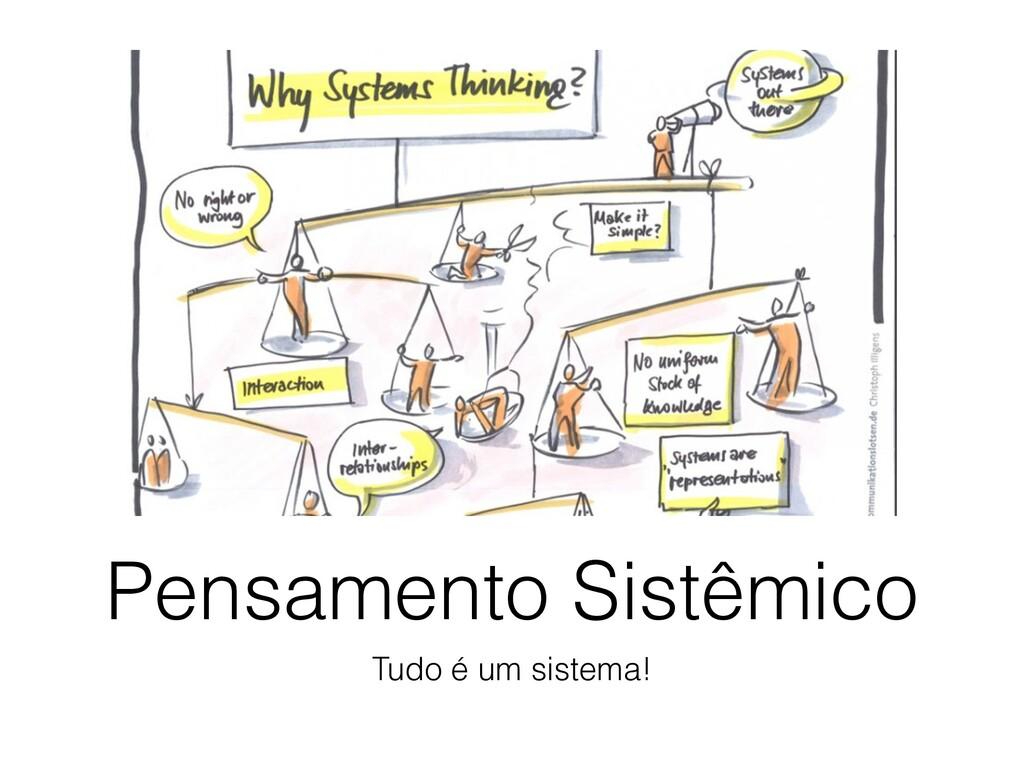 Pensamento Sistêmico Tudo é um sistema!