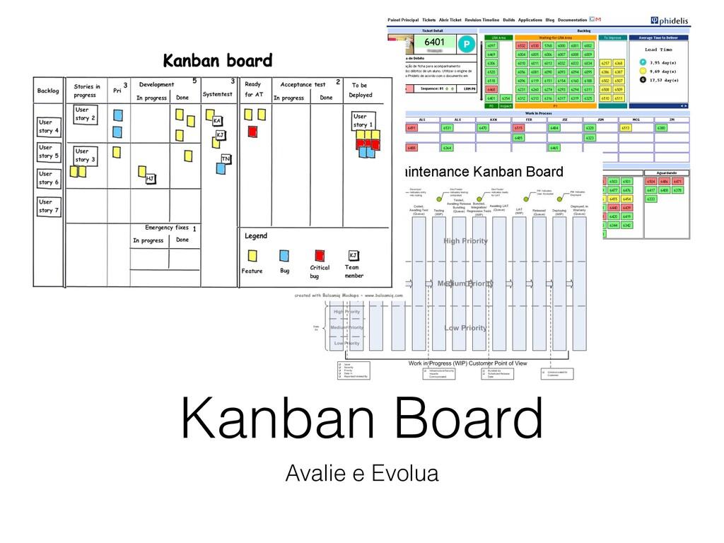 Kanban Board Avalie e Evolua