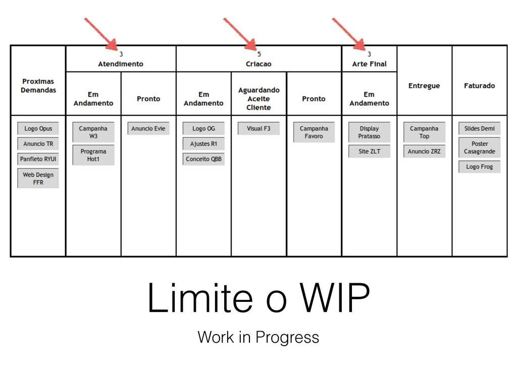 Limite o WIP Work in Progress