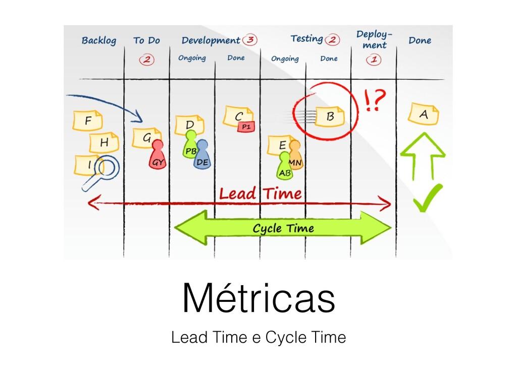 Métricas Lead Time e Cycle Time