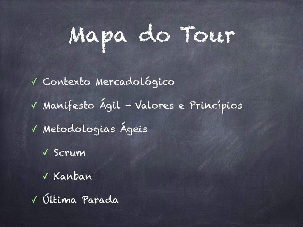Mapa do Tour ✓ Contexto Mercadológico ✓ Manifes...