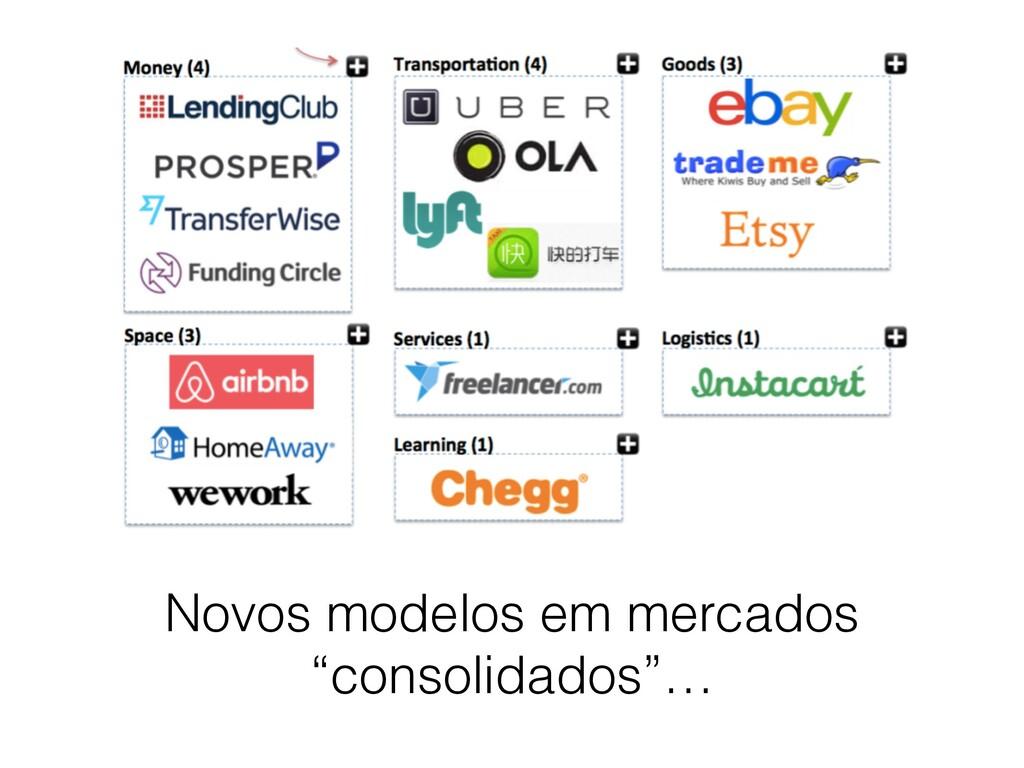 """Novos modelos em mercados """"consolidados""""…"""