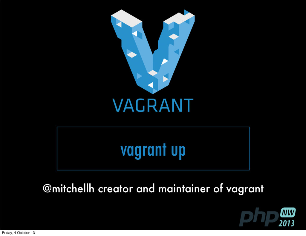vagrant up @mitchellh creator and maintainer of...