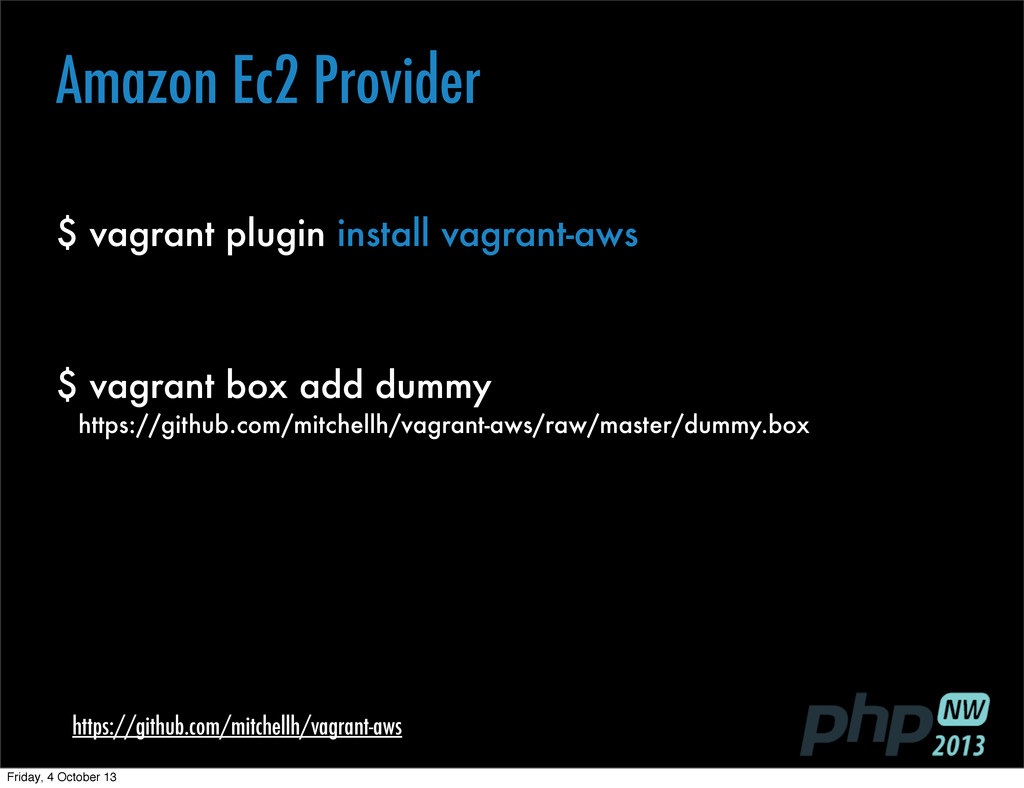 $ vagrant plugin install vagrant-aws https://gi...