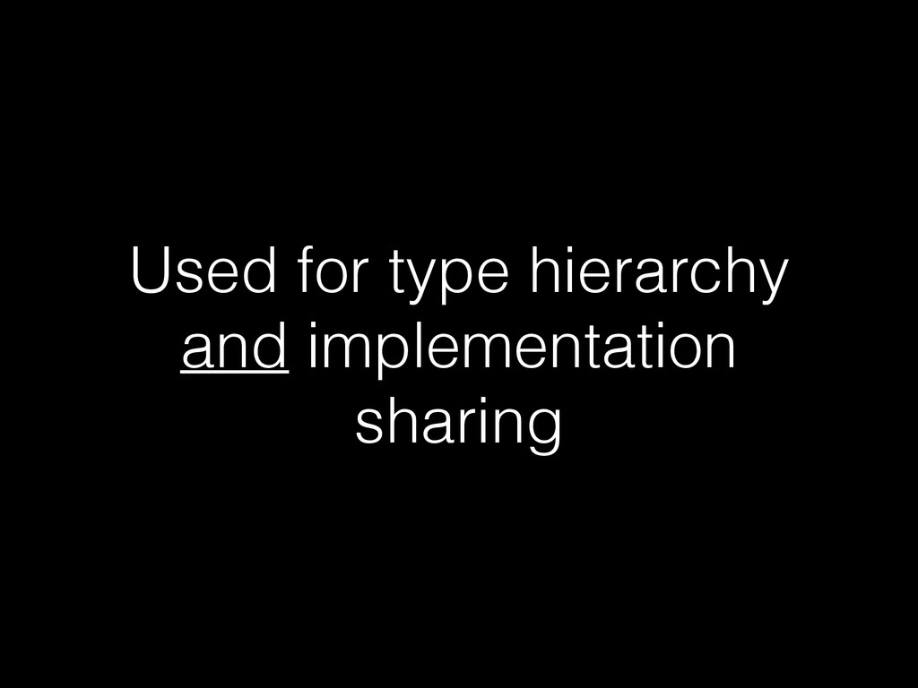 Used for type hierarchy and implementation shar...